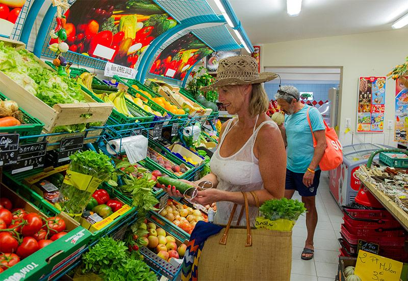 Supermarché du camping Méditerranée Plage à Vias