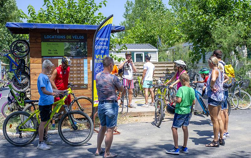 Location de Vélos au camping Med Plage à Vias