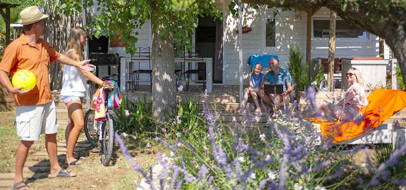 Cliens campin en mobil-home Premium, à Vias-Plage, Hérault