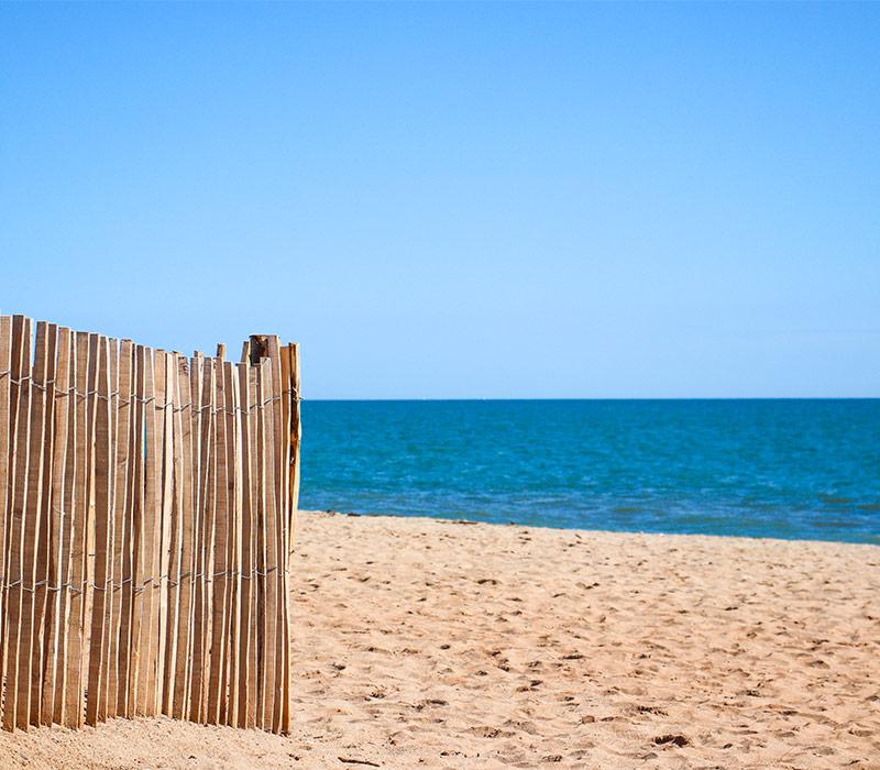 Plage du camping, accès direct au bord de mer à Vias-Plage